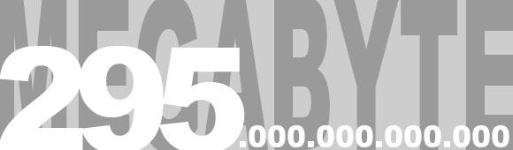 295 Exabyte Daten im WWW