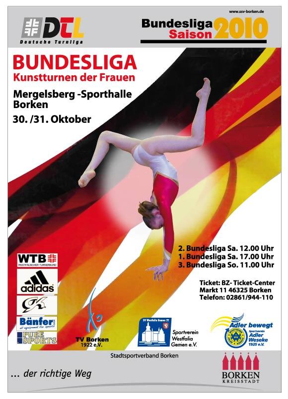Veranstaltungs-Plakat des SG Borken 30. und 31. Oktober 2010