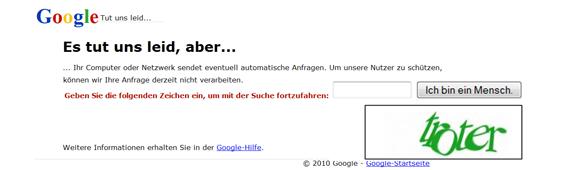 Google ich bin ein Mensch