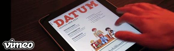 Außergewöhnliche iPad Anzeige