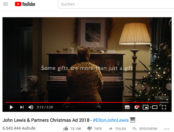 Einige Geschenke sind mehr als nur ein Geschenk - Sir Elton