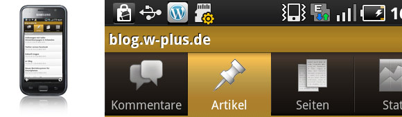 wordpress für iPhone und Android